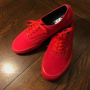 Vans Red Monotone Authentic Sneakers